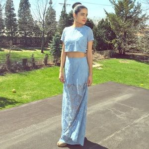 Dresses & Skirts - SALE‼️Unique Sky blue top and skirt set