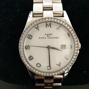 Marc By Marc Jacobs Henry Crystal Silver Watch