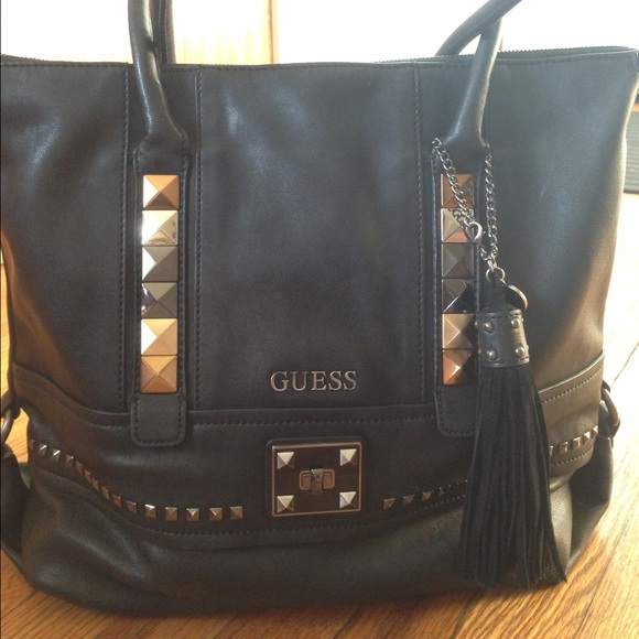 PRICE REDUCED! Authentic Guess Studded Tote
