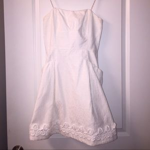 Lilly Pulitzer White Jacquard Strapless Dress