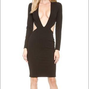 SOLACE London black cutout Nolan dress size 2