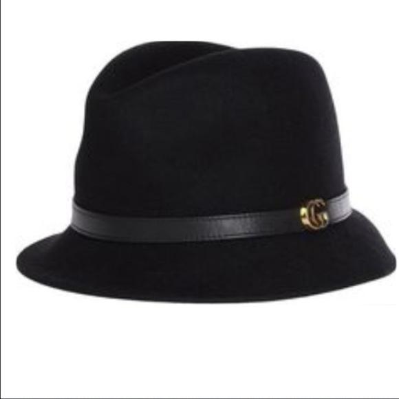 a483d7baf3f52 Gucci Accessories - Authentic Gucci black felt bolo hat celebrity fave