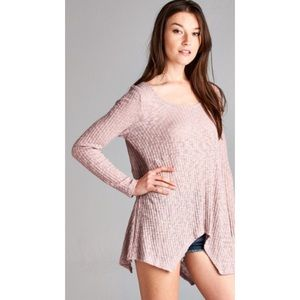 Honey Punch Tops - Last One • Soft Mauve Lightweight Long Sleeve
