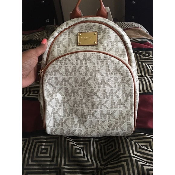 5381e444de59 Michael Kors small signature jet set logo backpack.  M_56fb22593c6f9fbd65011e1c