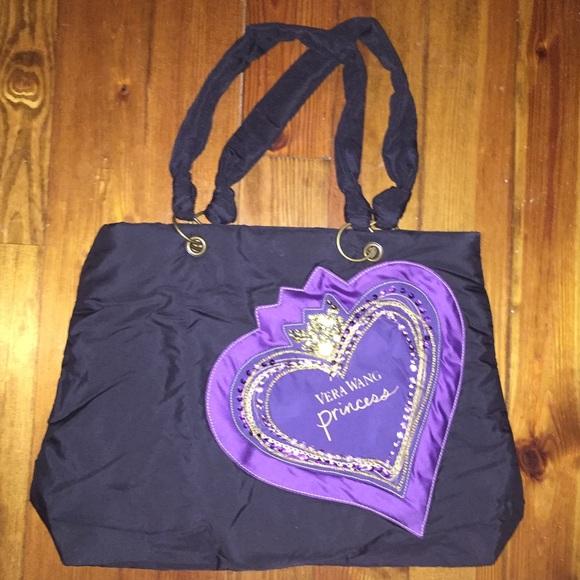 a04fbe54f5 NEW Vera Wang Princess Purple Heart Tote