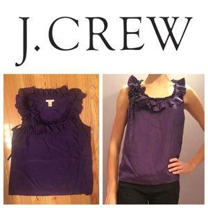 J. Crew Tops - J. Crew 100% Silk Purple Flower Sleeveless Blouse