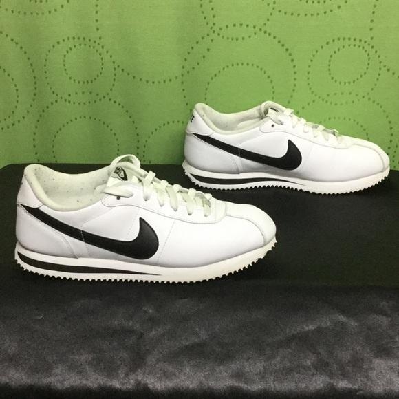Nike Shoes - NIKE CORTEZ Basic Leather white/black . Mens 10.5