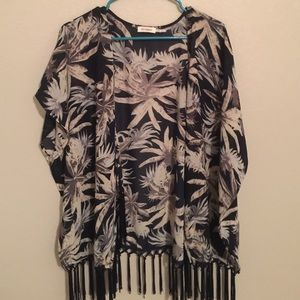 Palm leaf kimono