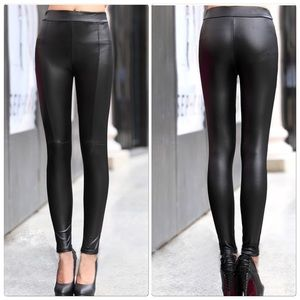 Pants - 🎉HP🎉 Sexy Leather Stretch Legging