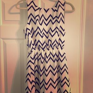 Dresses & Skirts - Pink Owl Chevron Dress