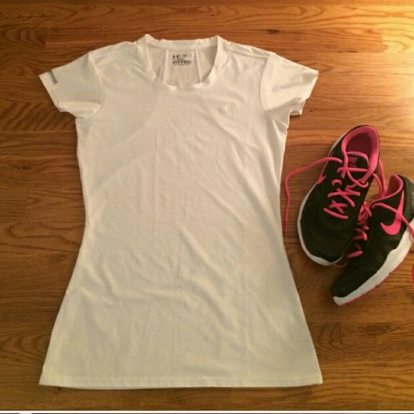 80 Off Under Armour Tops Under Armour Fitted Heat Gear