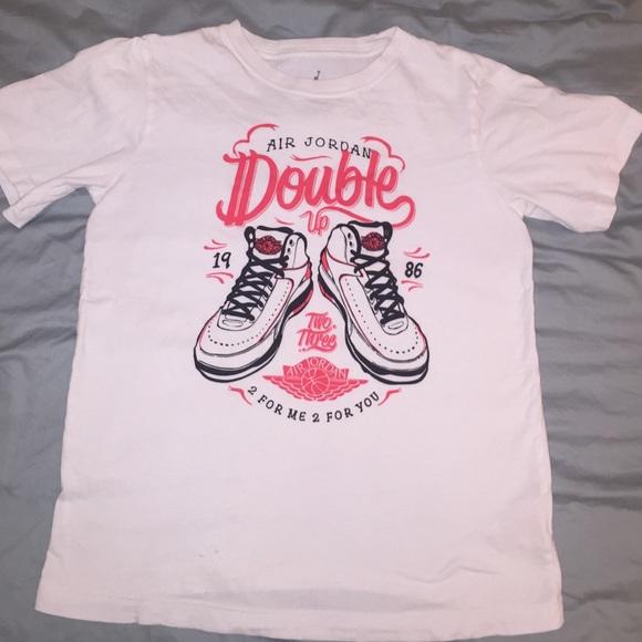 Air Jordan Shirts Tops Girls T Shirt Size Large Poshmark