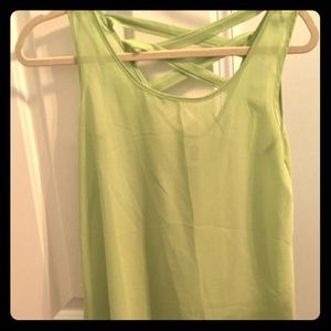 Tops - Neon green dressy tank