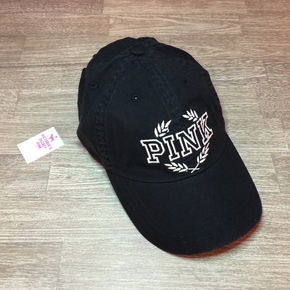 b4a9801f7cf NEW Victoria s Secret PINK Black Baseball Cap