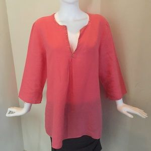 Eileen Fisher Tops - Eileen Fisher Linen Tunic in Coral