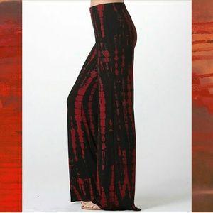 WASABI+MINT black + red tie dye bells