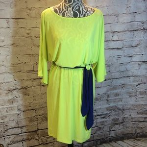 MSK Dresses & Skirts - 🎉HP🎉BEAUTIFUL LIME AND NAVY DRESS