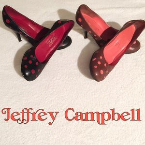 Jeffrey Campbell Shoes - 🦊Retro Chic🦊 Black and Red polka dot swing shoes