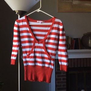 Tally Weijl red & white stripe sweater