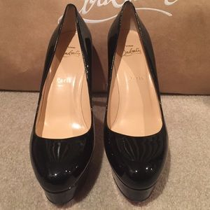 cd021ee2a80 SOLD Christian Louboutin Bianca 140 Black Patent