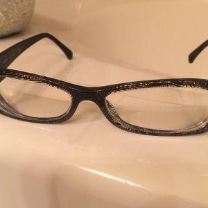 Chanel eyeglasses, tweed, clear pattern