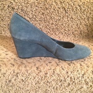 Exhilaration Shoes - Size 11 teal wedges! Very cute!!