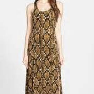 Michael Kors Snake Print maxi dress