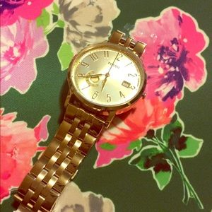 Fossil gold watch new!