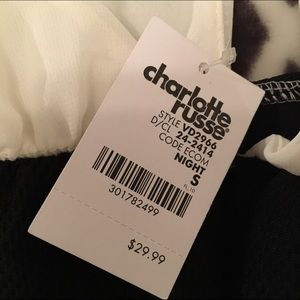 Charlotte Russe Dresses - Charlotte Russe black and white dress Size S