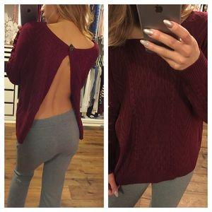 Sale-Split Back Sweater