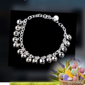 Jewelry - 🆕 925 silver plated jingle bells bracelet