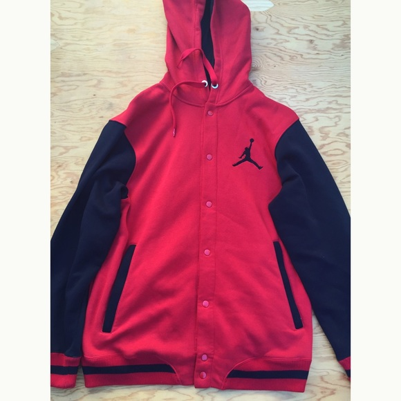 38% off Jordan Jackets & Blazers - Red & Black Jordan Button Up ...