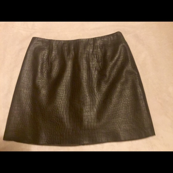 express express brown leather mini skirt from