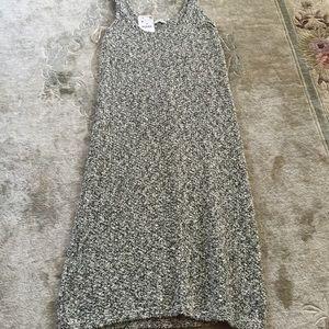 Zara knit black-and-white tank long dress