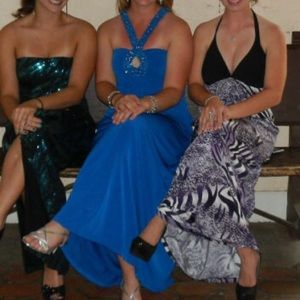 Dresses & Skirts - Blue jeweled prom dress