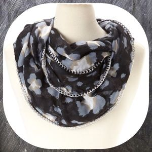 Chain and  Print Betsey Johnson Infinity Scarf