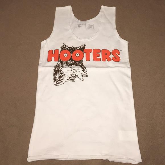 b5aaf9b5b52cc0 Hooters Tops - Hooters White Uniform Tank Top
