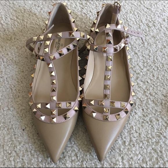 9d041d6714 Valentino Shoes | Nib Garavani Rockstud Flats Alpaca 37 7 | Poshmark