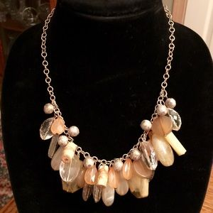 NY Collection Jewelry - VINTAGE NY GOLD TONE MULTIPLE STONES NECKLACE