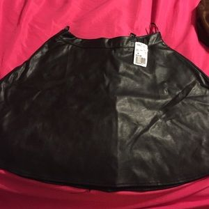 Black leather (not real leather) skirt