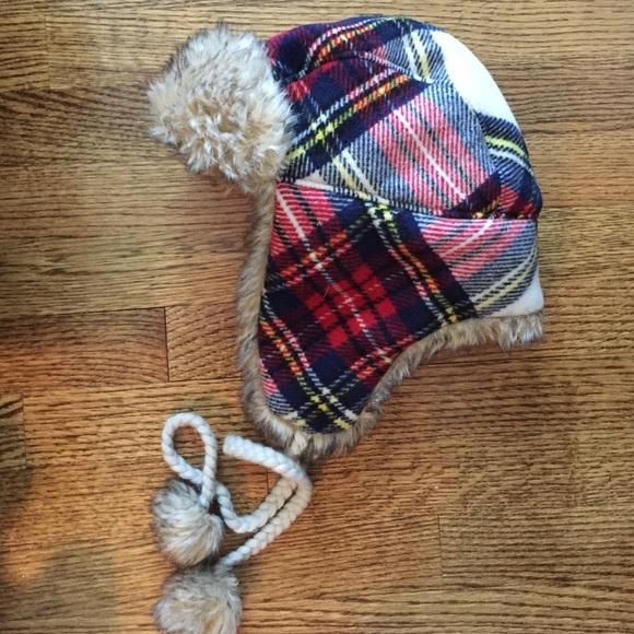 9e85e37886dd0 American Eagle Outfitters Accessories - Plaid trapper hat