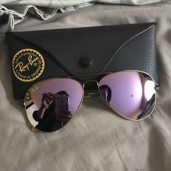 75ef756d842 Authentic Lilac flash Aviators. M 56fc07406a5830c1d703dda3. Other  Accessories you may like. RayBan s Clubmaster Sunglasses