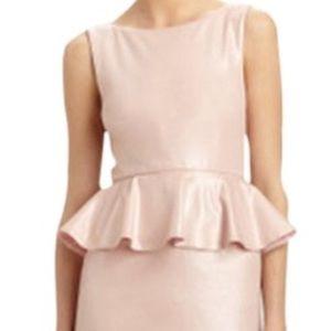 Alice & Olivia Pink Peplum Dress