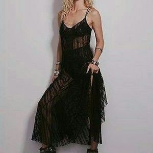NWT Free people Meadows of lace maxi slip xs