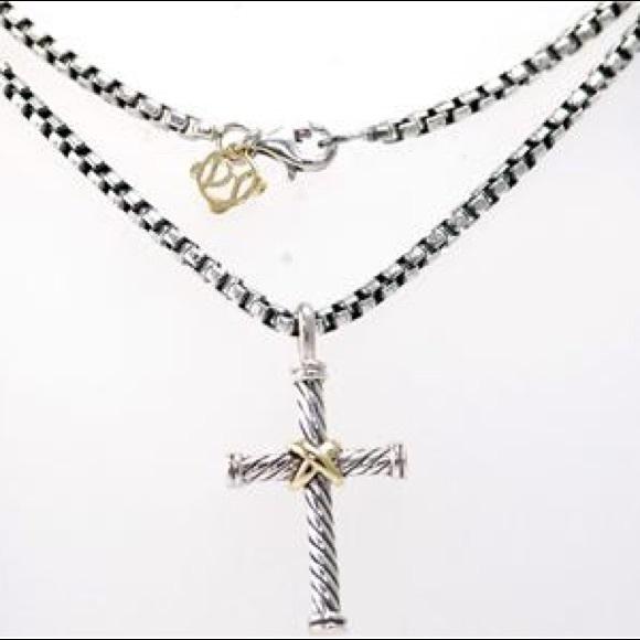 85ae6b23598d David Yurman Jewelry - David Yurman Cable Classics Cross Necklace