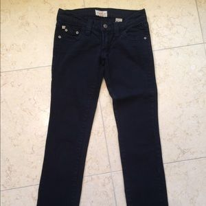 Frankie B black faded jeans size 0