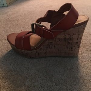 Mossimo Supply Co. Shoes - British tan wedges ! Never worn , brand new!
