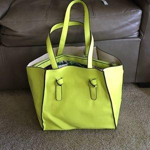 Bright lemon color handbag. Brand new