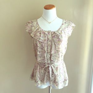 💐BOGOFREE! LC Girly Floral Chiffon Blouse