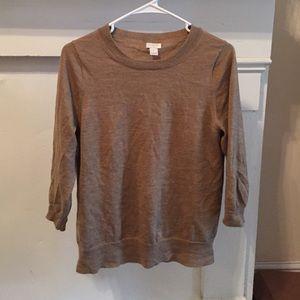 J.Crew Factory camel crew neck sweater size L